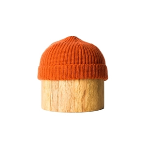 Shetland Wool Beanie : Orange